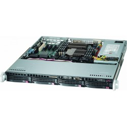 CASE: 1U - 4x 3.5 Hotswap SAS/SATA - 350W - Rack Rail included