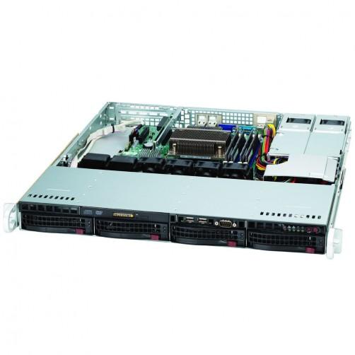 CASE: 1U - 4x 3.5 Hotswap SAS/SATA - 400W Redundant - Rack Rail included